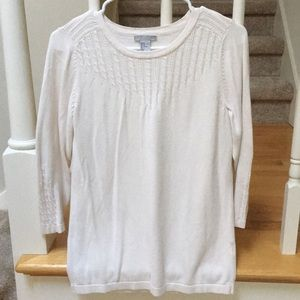H&M White long sleeve sweater